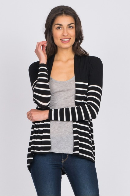 Stripe Panel Cardigan