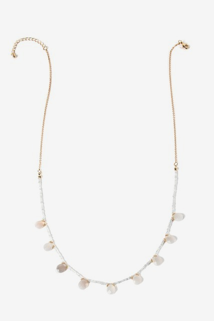 Stationed Teardrop Necklace