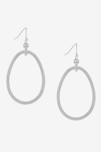 Etched Oval Hoops