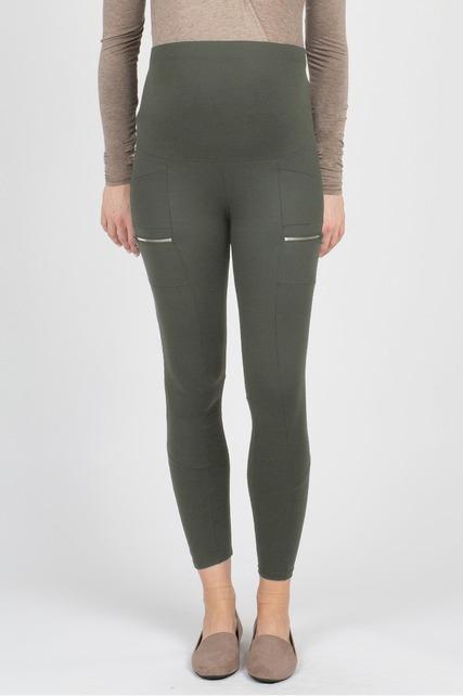 Olive Zipper Pants