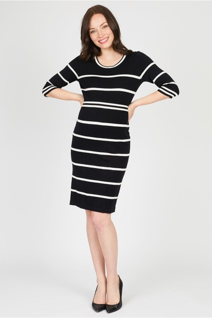 Striped Sweater Dress