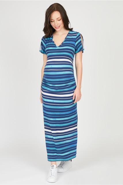 Split Sleeve Maxi Dress