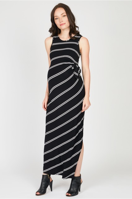 Side Tie Maxi Dress