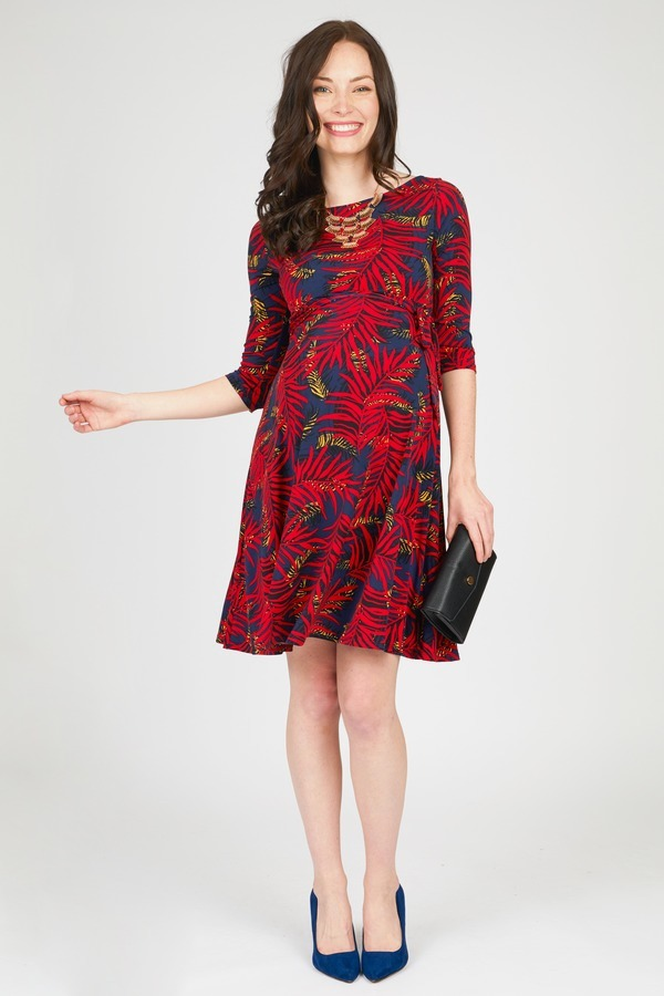 Dark Palm Wrap Dress By Leota Maternity Rent Clothes With Le Tote