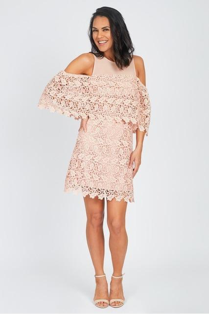 Mesh Neckline Dress