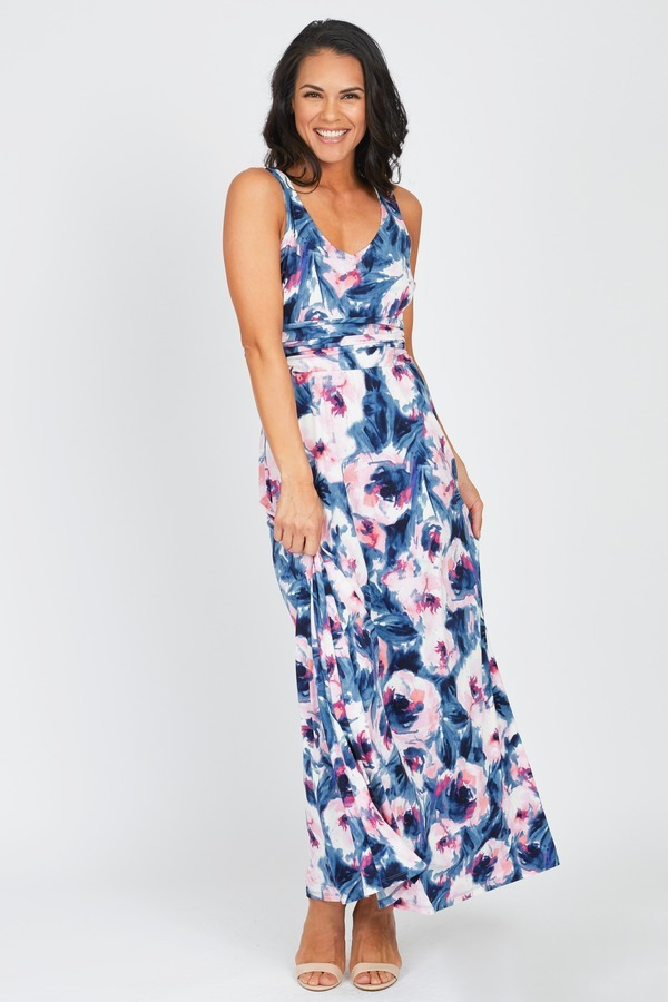 Ruched Waist Maxi
