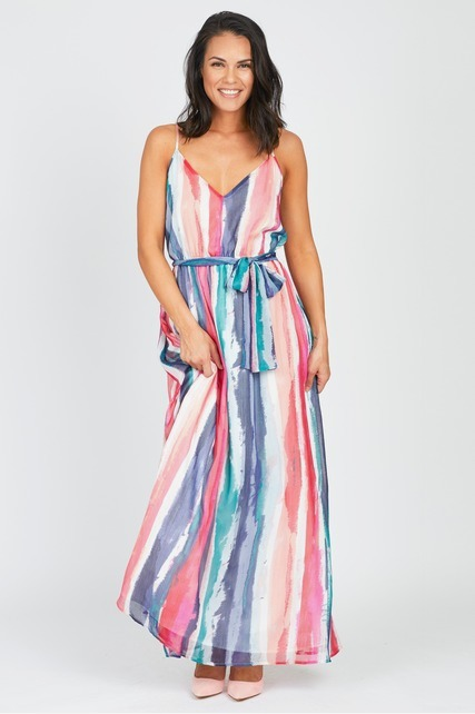 Watercolor Chiffon Maxi