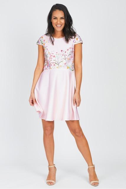 Garden Floral Scuba Dress
