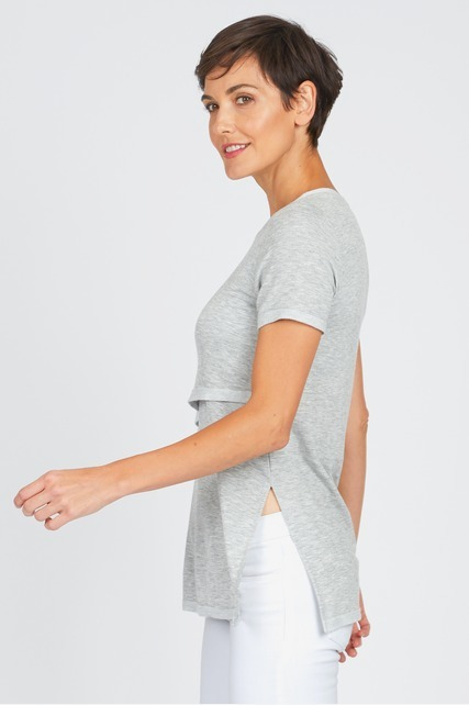 Flyaway Side Layered Top