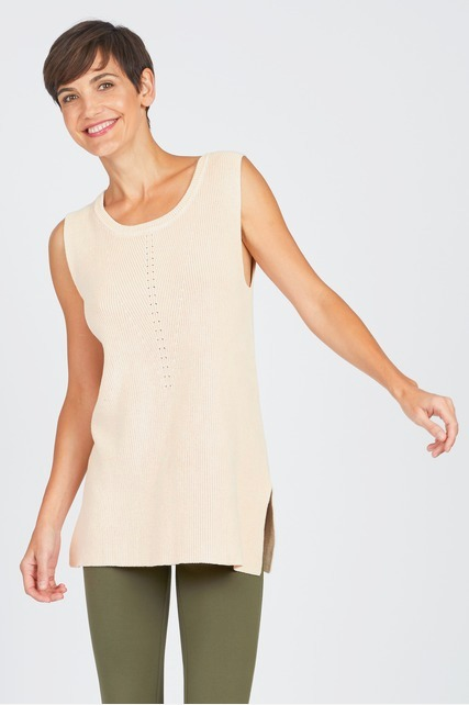 Sleeveless Sweater Tunic