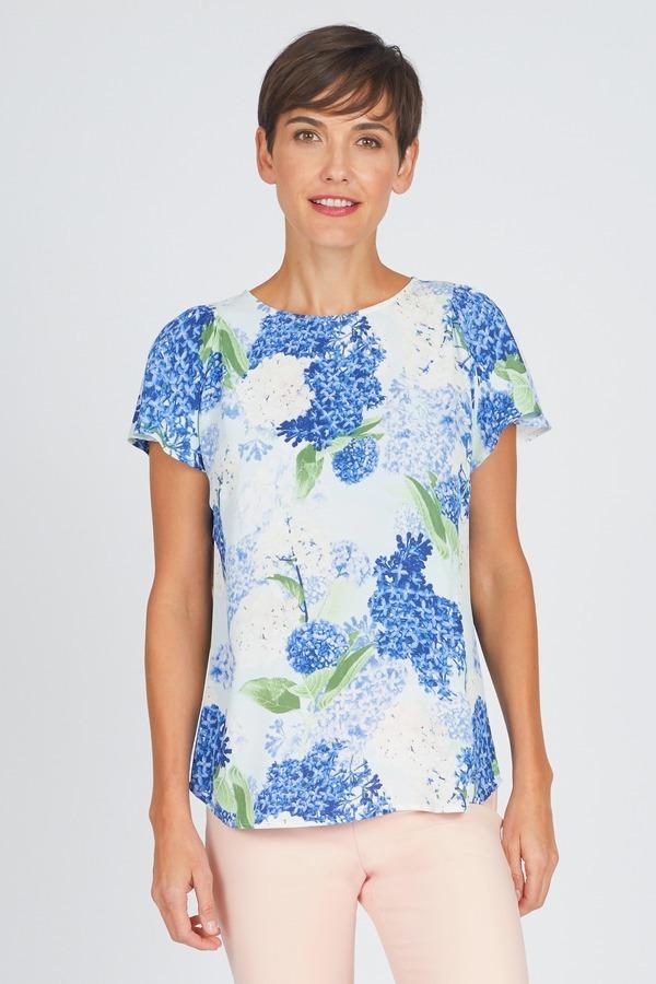 Hydrangea Flutter Blouse