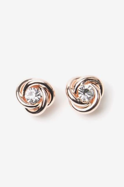 Knotted Crystal Stud