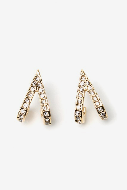 V Huggie Earrings