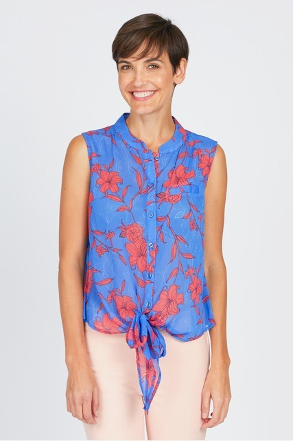 Bright Tie Front Top