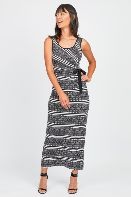 Striped Side Bow Maxi