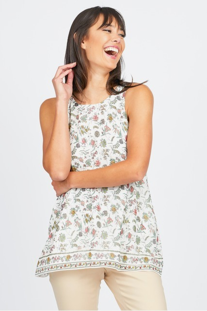 Antique Floral Tank