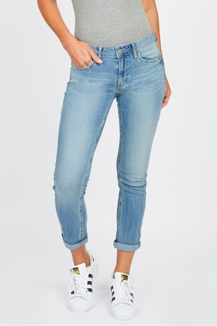 Low Rise Roll Hem Jean