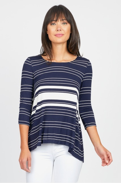 Striped Drape Tee