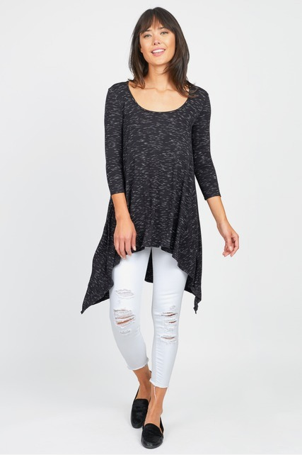 Draped High Low Tunic