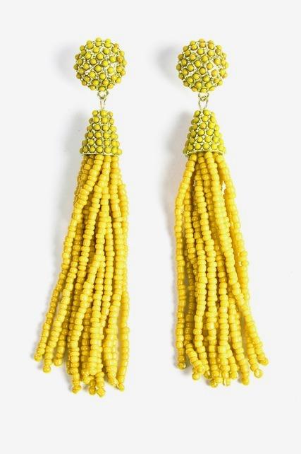 Beaded Tassel Earring