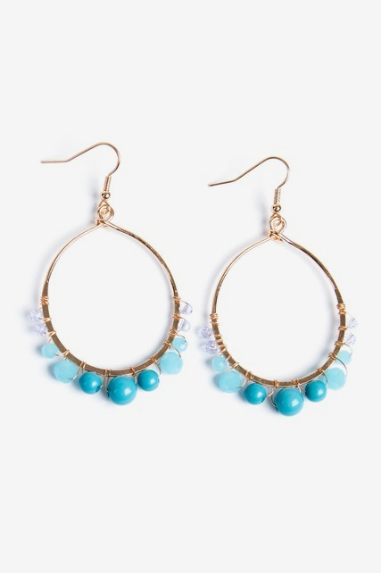 Ombre Beaded Hoops