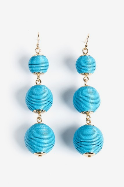 Fabric Ball Earring