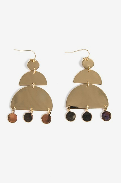 Geo Tiered Drop Earring