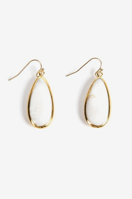 Pearlescent Drop Earring