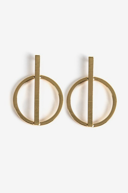 Linear Circle Earring