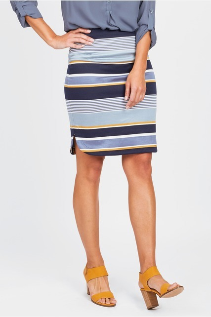 Striped Ponte Skirt