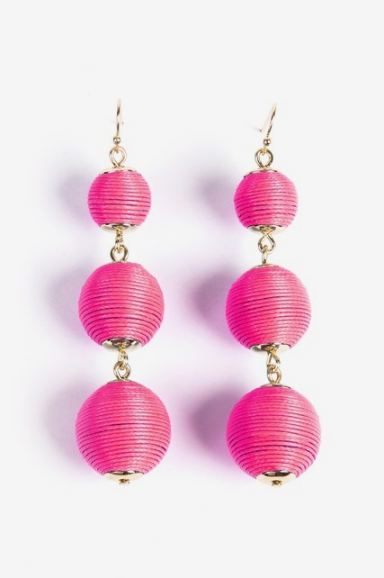 Fabric Ball Earrings