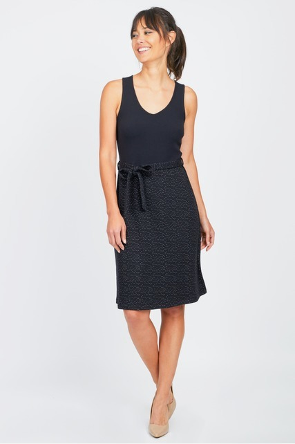 Belted Textured Dress