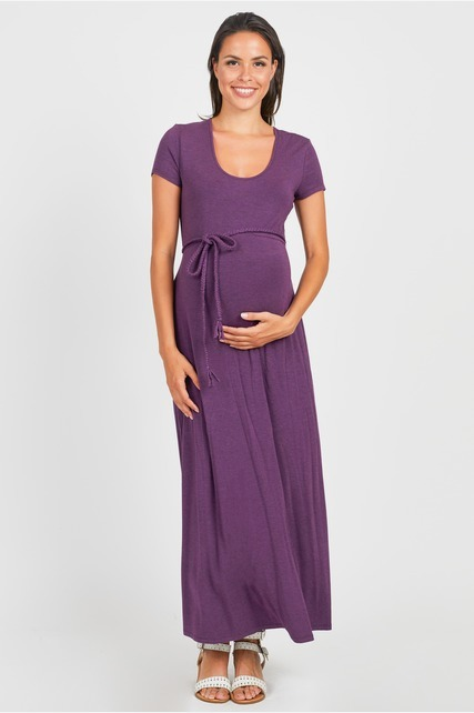 Braided Belt Maxi Dress