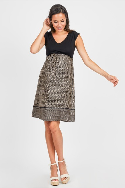 Knit to Woven Dress