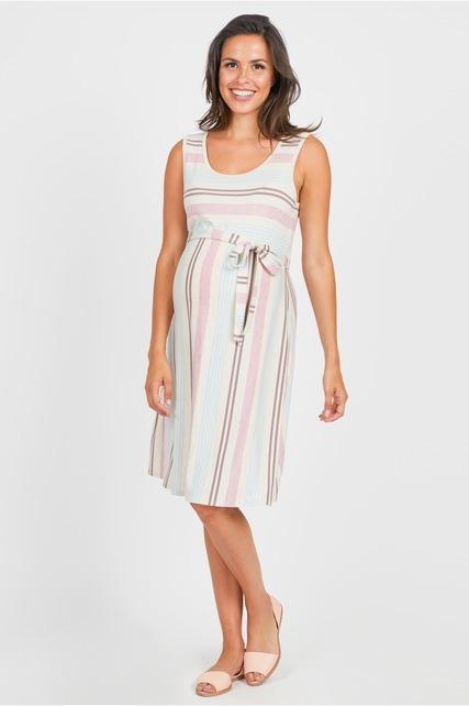Variegated Striped Dress