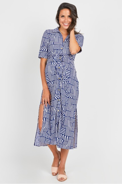 Split Side Shirtdress