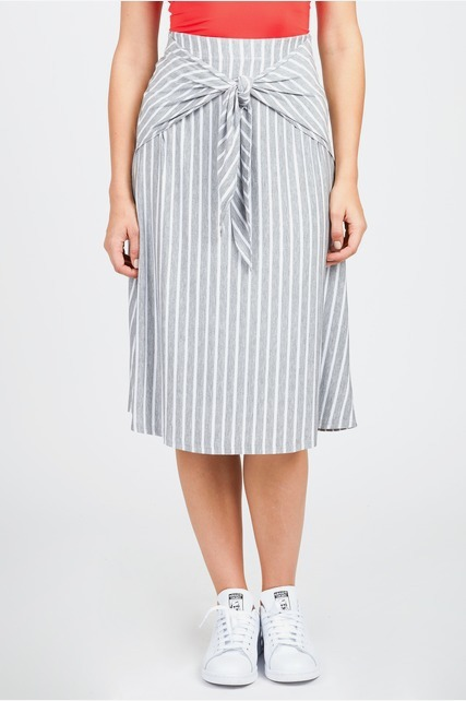 Front Tie Midi Skirt