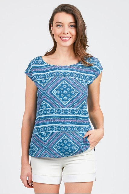 Split Back Printed Top