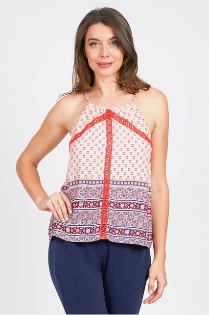 Embroidered Border Tank