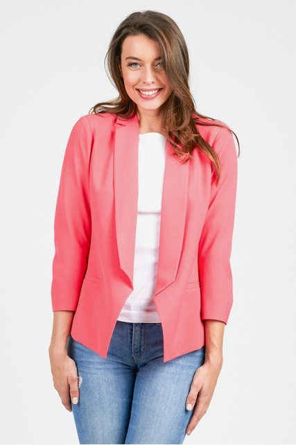 Stripe Lined Color Pop Blazer
