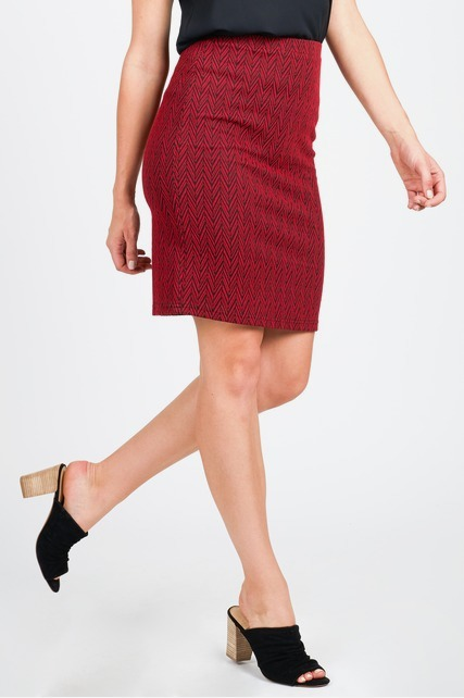 Zig Zag Textured Skirt