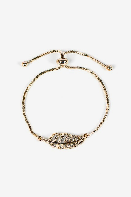 Slider Leaf Bracelet