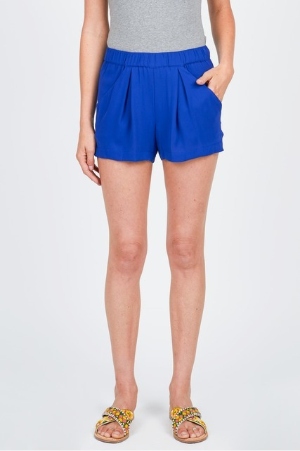 Pleat Front Elastic Shorts
