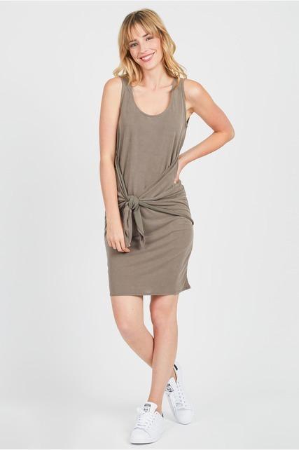 Tie Front Tank Dress