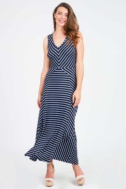 Contrast Stripe Maxi