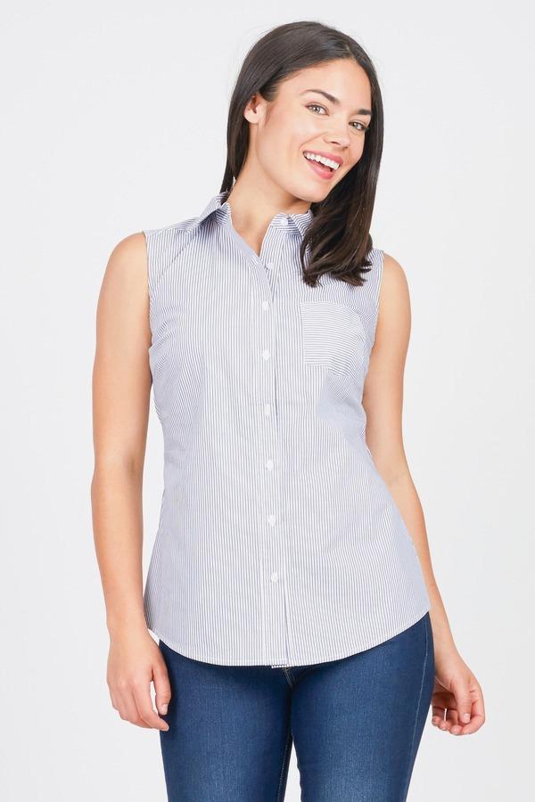Pinstripe Sleeveless Shirt