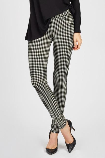 Checkered Skinny Pants