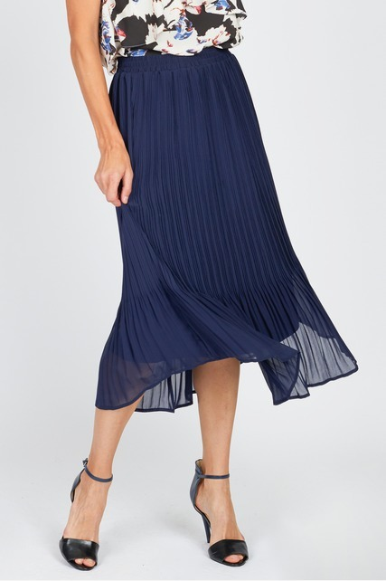 Pleated Flared Skirt
