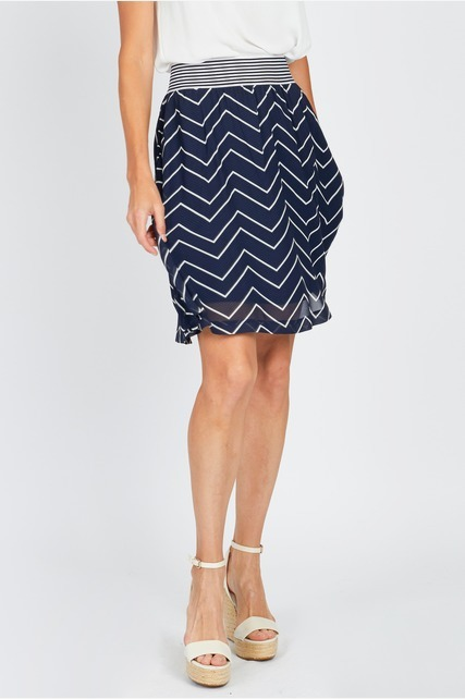 Chevron Printed Skirt