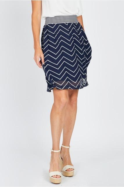 Chevron Printed Skirt